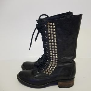 Steve madden size 7 tropador leather studded boots